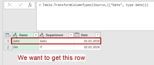 We will filter this table with the result of previous query